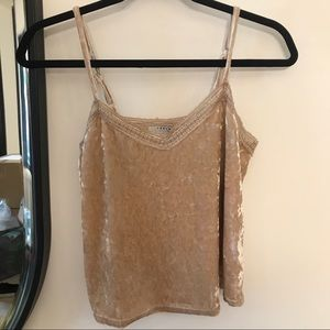 M boutique gold lace trim cami
